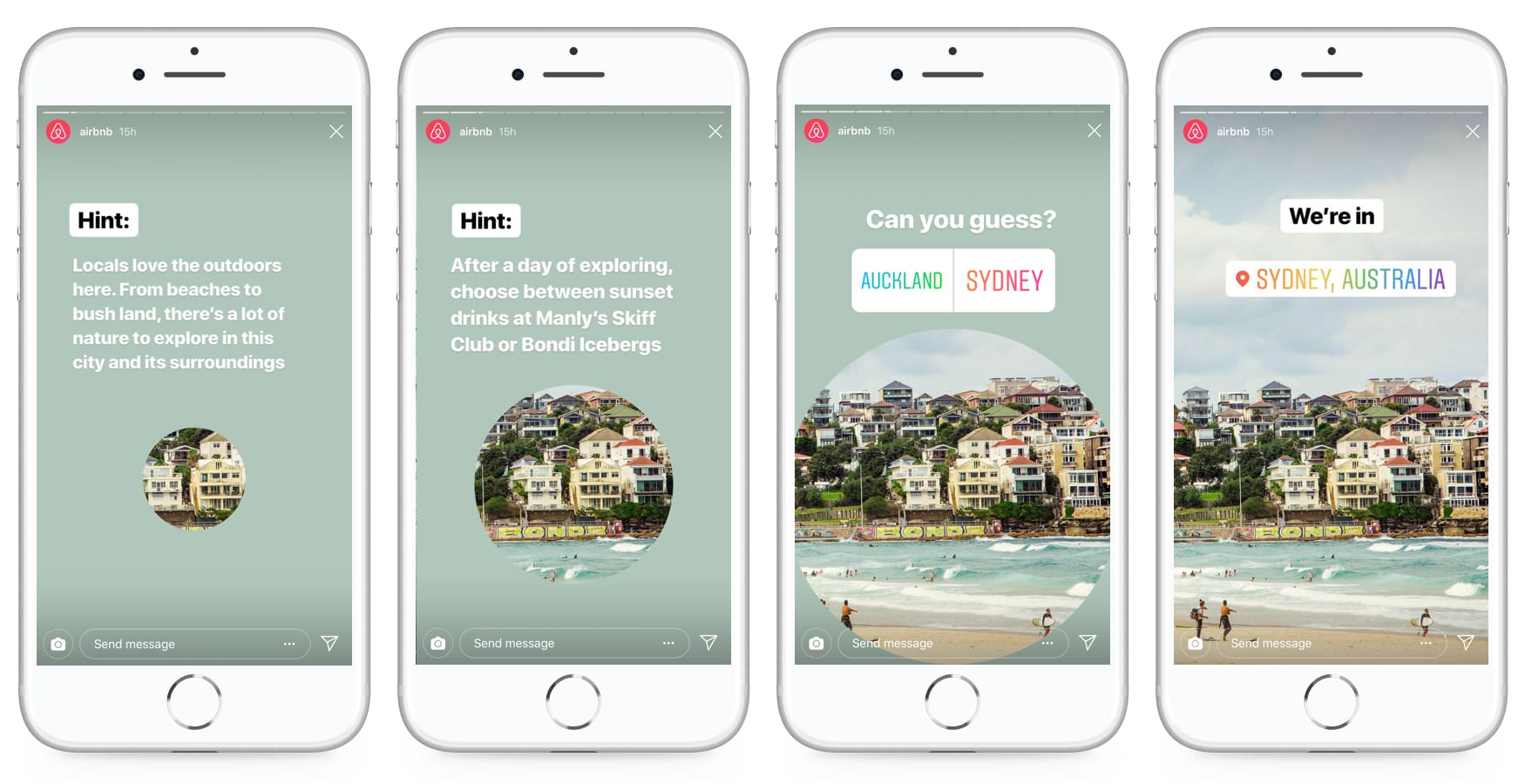Instagram Stories AirBnB Beispiel
